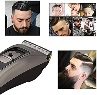 CattleBie Ceramic Titanium Alloy Blade Hair Trimmer Clipper USB Rechargeable Electric Razor Beard Shaver Trimer With LED D...