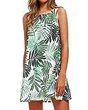 Yoins - Vestido corto de verano para mujer, con estampado floral al azar, sin...