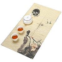 茶道、自然の家の装飾竹のテーブルランナー、環境に優しい竹、結婚式の装飾テーブルマット (Color : STYLE4, Size : M)