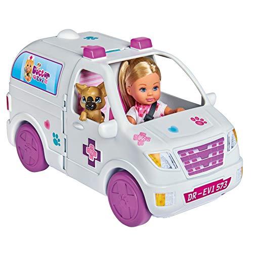 Simba Toys - Evi Love Caravana Veterinaria 2 en 1, con Muñeca Incluida y Múltiples Accesorios, para Niños a partir de 3 años - 36 x 13 x 16 cm