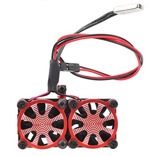 GXX Ventilador De Refrigeración Doble Motor Ajustable Repuestos De Actualización del Radiador , para TRX4 1/10 RC Car Red
