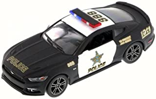 Kinsmart 2015 Ford Mustang GT Police, Black 5386DP - 1/38 Scale Diecast Model Toy Car but NO BOX