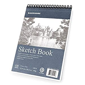 WONDERFUL DESIGN FEATURES - Top spiral make our sketchpad friendly for both left-handed and right-handed, paper inside the sketchbook is very beautiful & smooth while drawing. Pages are easily torn from the notebook with punctures. Perfect use for ad...