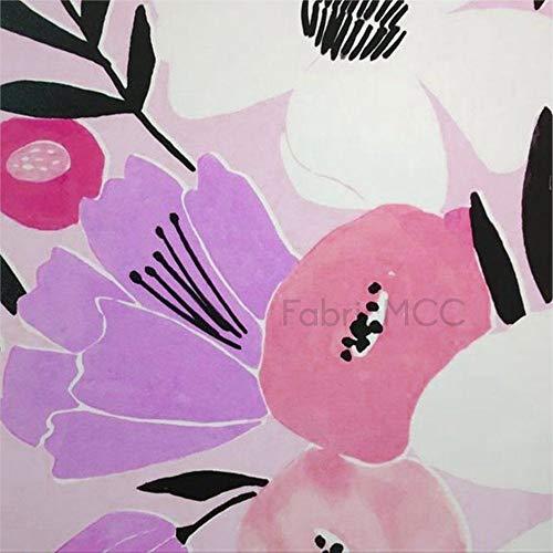 Juego de pegatinas decorativas para azulejos, diseño floral, color rosa, morado, violeta, ilustración de botánica de 10,4 x 10,4 cm, vinilo impermeable para decoración del hogar