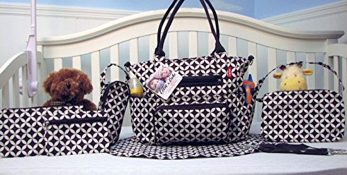 SoHo Collection, Grand Central Station 7 pieces Diaper Bag...