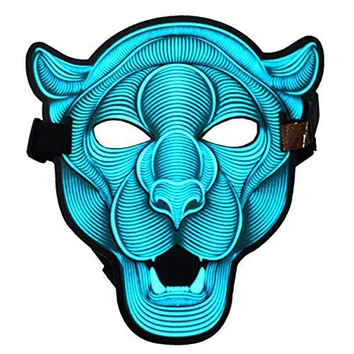 ShiyiUP Led Halloween Máscara Luminosa de Mascarada Gente y