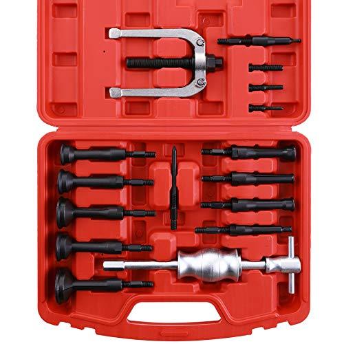 Orion Motor Tech Kugellager Abzieher 16 Stück Innenlager Abzieher Grundloch Lagerabzieher Werkzeug Kugellager mit Gleithammer Sackloch Auszieher Werkzeug