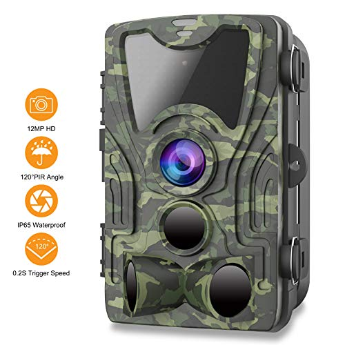 FHDCAM Trail Camera,1080P HD Wildlife Game Hunting Cam with Motion Activated Night Vision, 120° Wide Angle Lens, Waterproof Wildlife Camera for Outdoor Surveillance