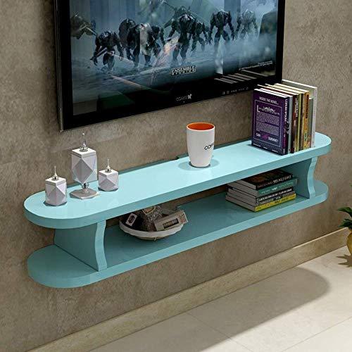 HONGYU Estantería flotante Estantería de TV montada en la pared Estante de exhibición de juguetes de fotos Grabadora de estanterías Reproductor de DVD Estante de almacenamiento de estantería para TV S