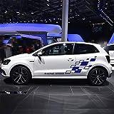 WSCLCP Calcomanía de celosía de Carreras, decoración de la Puerta del Cuerpo del Coche, calcomanía de Vinilo en Ambos Lados, para Volkswagen Polo Golf CC GTI-R Line-R WRC-TSI