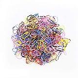 Guangcailun 1000pcs Gomas Bandas elásticas de Goma elástica Multicolores Bandas de Pelo de Cola de Caballo Lazos del Pelo, Tipo 1