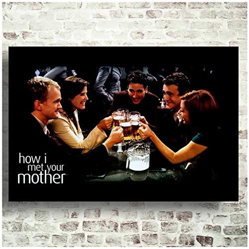 Cómo conocí a vuestra madre Serie de TV Pintura Póster Impresiones Lienzo Imagen de pared Decoración de la habitación del hogar Obra de arte -60x80cm Sin marco 1 PCS