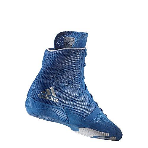 adidas Pretereo III Wrestling Shoes - Royal/Silver/White - 9.5