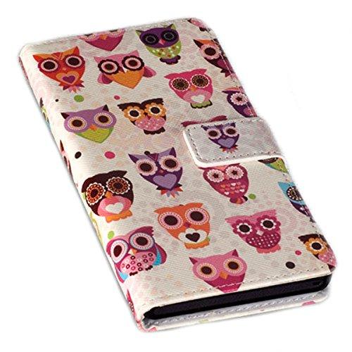 Book Style Handy Tasche - Design Now - Cover Hülle Schutz Hülle Etui für Nokia Lumia 730