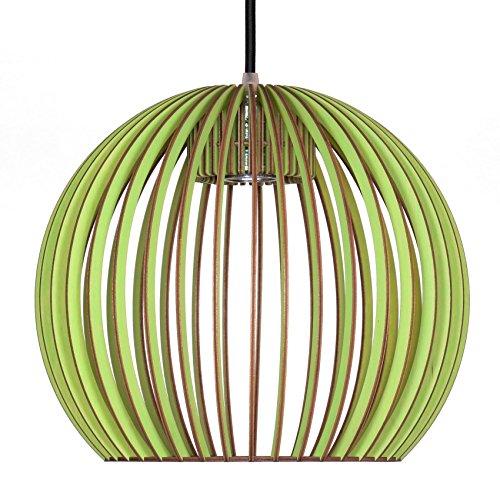 Pendelleuchte aus Holz - Moderne Designer Deckenleuchte - viele Farben erhältlich Apfelgrün