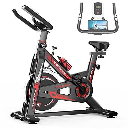 GJXJY Bicicleta de Spinning Bicicleta Indoor de Volante de Inercia Ultra Silencioso Aptitud Bici con Monitor LCD, Asiento Ajustable y Ajuste de Resistencia, Carga Máxima 150 Kg / 330 LBS