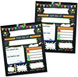 First and Last Day of School Interview Signs - Photo Booth Prop for 1st Preschool, Kindergarten, Back to School, Pre K Grade - 10 Cards