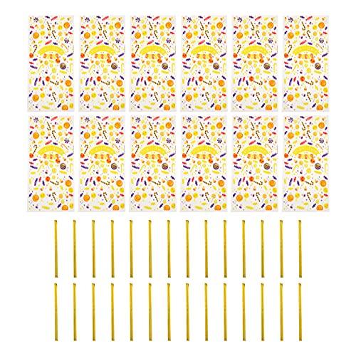 STOBOK 100 Pzas Bolsas de Celofán Bolsas de Plástico Transparente para Chelo Bolsas de Embalaje de Dibujos Animados para Dulces Postres Galletas de Panadería Envoltura de Regalo