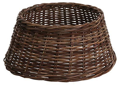 Edelman 8718861557237 - Base para árbol de Navidad, de mimbre, color marrón