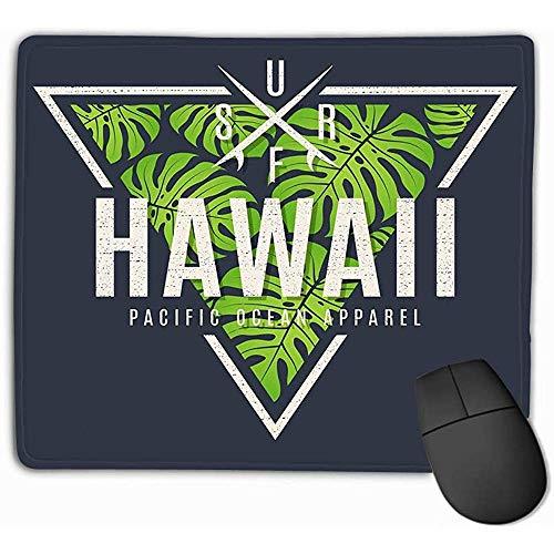 Kundenspezifische Mausunterlage,30X25CM einzigartiges gedrucktes Mäusematten-Entwurfs-Hawaii-Druck-tropische Blatt-Entwurfs-Stempel-Aufkleber-Typografie