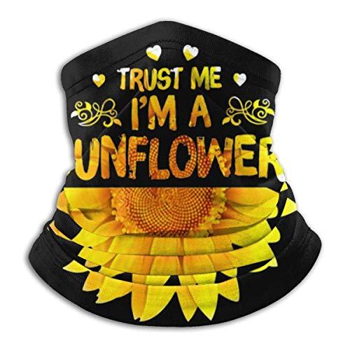 Trust Me I Am A Sunflower Face Cover Cuello Polaina Pasamontañas Multifuncional Bandana