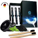 The Golden Smile    Professionelles Zahn Bleaching Set mit Natürlichem Aktivkohle Pulver &...