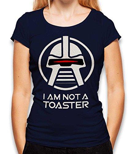 Battlestar Galactica Not A Toaster Damen T-Shirt dunkelblau L
