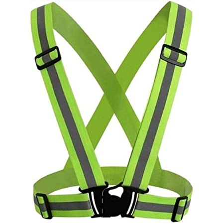 Reflective Vest Jacket High Visibility Adjustable Safety Security Night Running