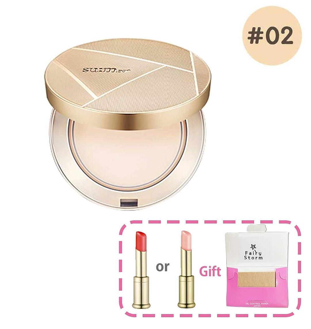 長方形成人期偏心[su:m37/スム37°] sum37 Air risingTF Radiance Powder Pact SPF30/PA++/エアライジングTFラディアンスパウダーファクト 2号 +[Sample Gift](海外直送品)