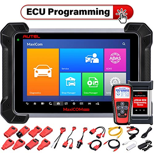 Autel MaxiCOM MK908P Automotive Diagnostic Scan Tool with J2534 ECU Programming and ECU Coding Advanced Full System Scanner 30+ Service Functions, MS908P Upgraded, With TS401 TPMS Service Tool