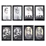 Apipi 4 Pcs Halloween 3D Picture Frame- Horror Changing Face Morphing Frame Props Little Girl Monster Halloween Haunted Spooky Decorations Painting Frame for Horror Theme Party Home Decor