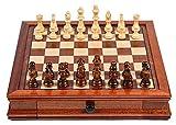 Juego de ajedrez de Madera Maciza de ajedrez con una Variable Hecha a Mano magnética de Doble cajón para Juegos de ajedrez Adultos Juegos de ajedrez (Size : Large 41x41x8cm)