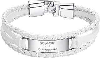 Custom4U Gros Maillon Bracelet Personnalis/é pour Homme Cha/îne Gourmette Cubaine Solide en/Acier Inoxydable Cha/îne Bracelet Miami Cubain Argent/é//Or//Noir 19//21//23 cm Cadeau pour Homme F/ête de P/ères