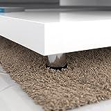 Deuba Couchtisch Wohnzimmertisch Hochglanz Beistelltisch Tisch Sofatisch Tischplatte 360° drehbar 60 x 60 cm - Weiß - 6