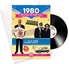 1980 Birthday or Anniversary Gifts - 1980 4-In-1 Card and Gift - Story of Your Year , CD , Music Download