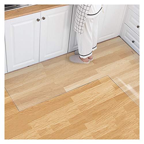 GHHZZQ Küche Bodenschutzmatte rutschfest wasserdicht Transparent Bürostuhlunterlage Bodenmatte Bodenschutz Plastik Kristallplatte, anpassbar (Color : 2.0mm, Size : 80x80cm)