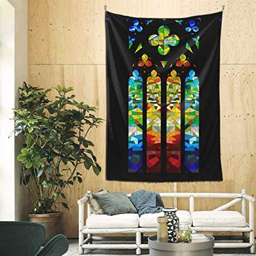 XiexHOME 60x90 Pulgadas Bar Art Decoración de la Pared Vidriera gótica Diseño de Paredes Decoración Arte de la Pared para el Dormitorio Dormitorio Telón de Fondo Decoración del hogar