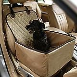 2 in 1 Hund Deluxe Sitzbezug für wasserdichte rutschfeste Gummimuffen mit Anker Design für alle Autos, LKWs und Geländewagen Satteldecke (Beige)