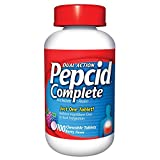 Pepcid Complete Acid Reducer + Antacid with Dual Action, Berry, Chewable Tablets, 100 Count