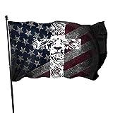 CHANGQUDD Lion Cross Religious Christian Rasta 3x5 Ft American Flag, Outdoor Banner, Family Banner, Garden Banner Black