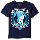 STAR WARS Boys' Big Jedi Knight Academy Seal Graphic Tee, Navy, YL