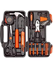 DeCare 39-Piece Tool Kit Tool Set - Household Hand Tool Kit Repair Tools Set with Portable Toolbox Storage Case