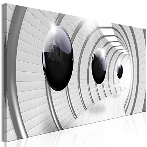 murando Akustikbild 3D Effekt 135x45 cm Bilder Hochleistungsschallabsorber Schallschutz Leinwand Akustikdämmung 1 TLG Wandbild Raumakustik Schalldämmung - Kugeln grau a-C-0001-b-a