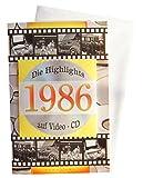 Geburtstagskarte 1986 mit Video-CD Jahreschronik