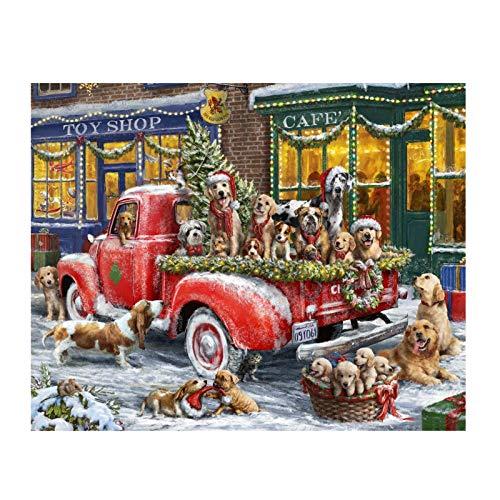Crazyfly Rompecabezas, 500/1000 piezas Feliz Navidad Rompecabezas Ejercicio Memoria Aliviar el Estrés Diversión Ejercicio Pensamiento Juguete para Niños Adultos