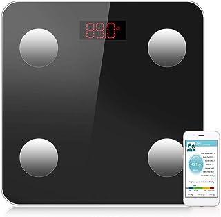 Delaman Báscula de Peso - Báscula de Grasa Digital Báscula de baño Bluetooth Báscula de Peso inalámbrica Inteligente con aplicación para teléfono Inteligente