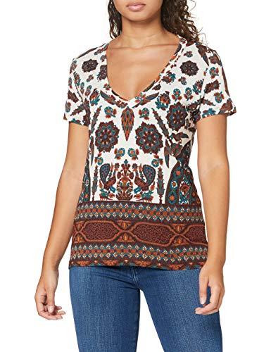 Desigual TS_Benin Camiseta, Blanco, XL para Mujer