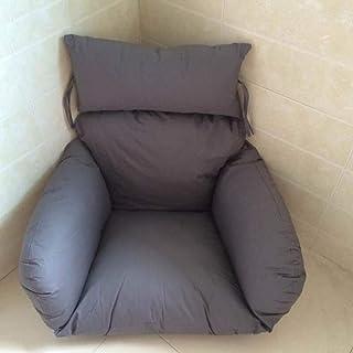 Coussin pour chaise pivotante, coussin en hamac suspendu pour chaise en rotin avec oeuf, intérieur ou extérieur en osier p...