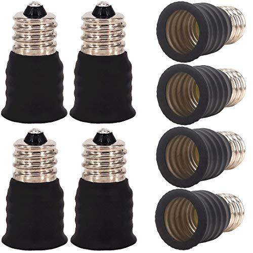 ZDCDJ 8pcs E12 adapter E12 auf E14 Lampensockel Adapter Konverter,E12 auf E14 Lampensockeladapter für Glühlampen,LED,Halogen Energiespar Lampen