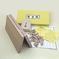 将棋セット 新桂7号折将棋盤と木製駒優良押し駒のセット